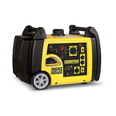 Champion 3100 Watt Portable Quiet Wireless Electric Start Inverter Generator