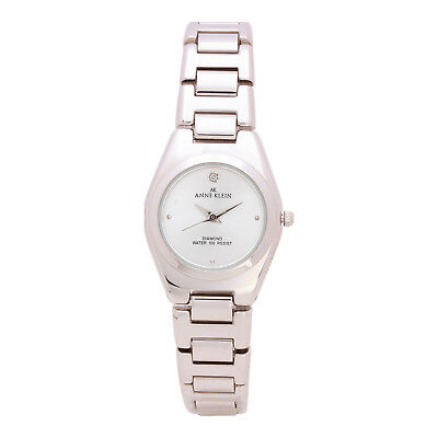 Anne Klein 10-739SVSV Women's 12mm Silver Stainless Steel Mother of Pearl Watch