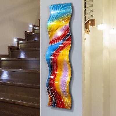 Statements2000 Metal Wall Art Accent Sculpture Red Blue Yellow Decor Jon Allen