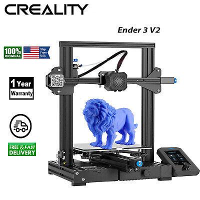 NEW Creality Ender 3 V2 FDM Upgrade 3D Printer Silent Motherboard Meanwell Power