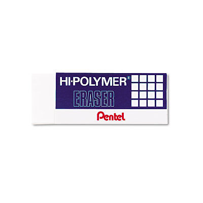 Pentel Hi-polymer Block Eraser White 3pack Zeh10bp3k6