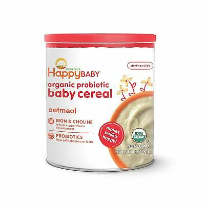 organic probiotic baby cereal with choline oatmeal
