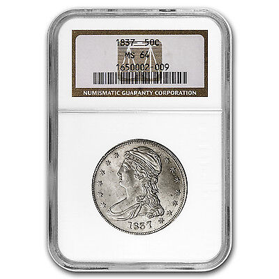 Click now to see the BUY IT NOW Price! 1837 REEDED EDGE HALF DOLLAR MS 64 NGC   SKU 91832