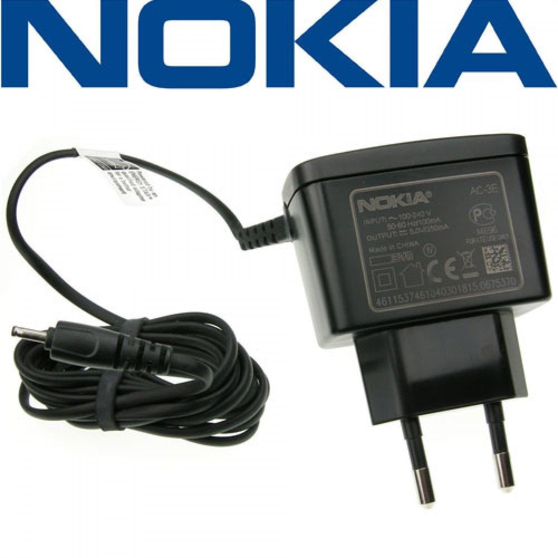 CARICA BATTERIA ORIGINALE NOKIA AC-3E MURO 5230 5800 1200 1208 N70 N95 8GB N96