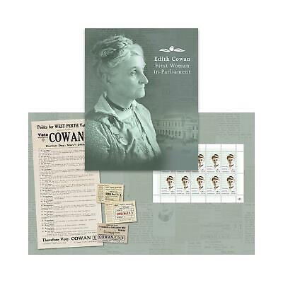 Australie - Edith Cowan  2021 Stamp + Maxicard + Sheetlet Pack + FDC
