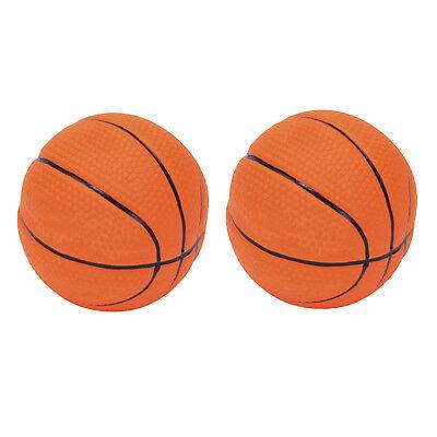 "NEW COASTAL LATEX BASKETBALL DOG TOY 2.5"" LATEX BASKETBALL (2-PACK)"