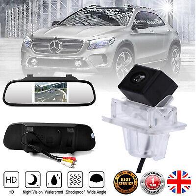 "Car Rear View Reverse Camera +4.3"" Mirror for Mercedes-Benz C-class E-class W204"