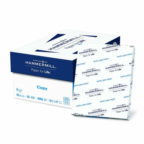 Hammermill Copy Paper, 8.5 x 11 Paper, Letter, 8 Ream, 92 Bright 4,000 Sheet
