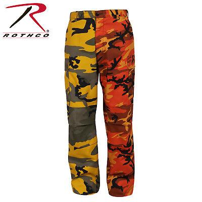 US BDU Two-Tone Pants Army Hose camouflage Stinger Yellow / Savage Orange camo ()