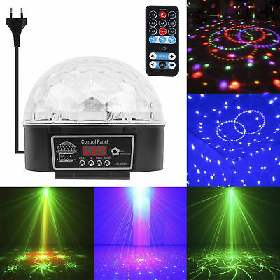 Disco 9 LED Lichteffekt Discokugel Magic RGB Projektor Party Clubs KTV Bar DJ