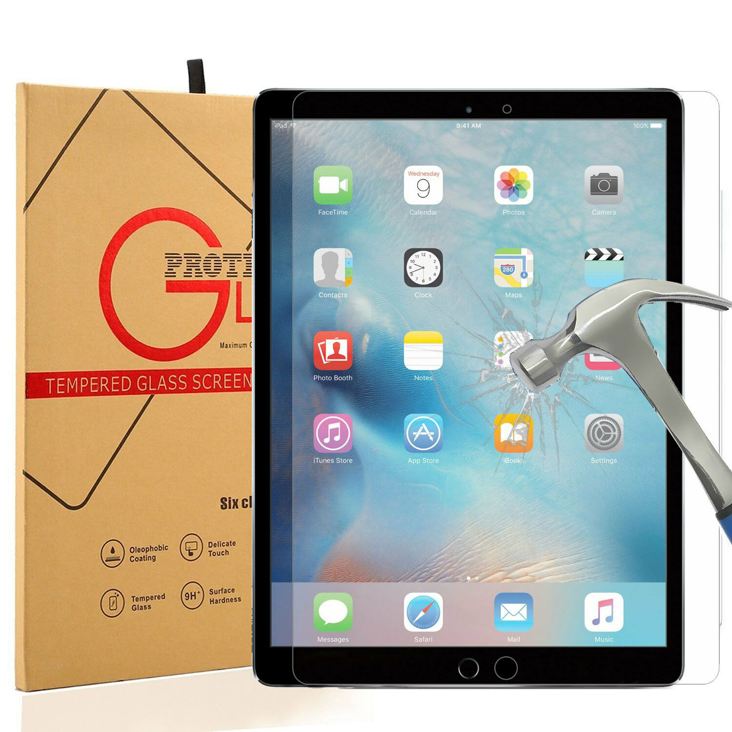 2017 Tempered HD Glass Screen Protector Film for Apple iPad