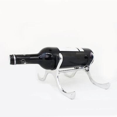 Weinflaschenhalter aus Zinn   Weinflaschenständer für 3 Flaschen Geschenkidee