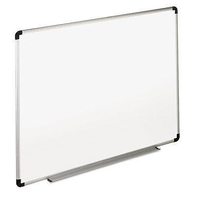 Universal Dry Erase Board Melamine 48 X 36 White Blackgray Aluminumplastic