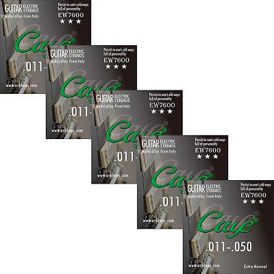 5 Sets Orphee EW7600 Medium 011-050 Steel Nickel Alloy Electric Guitar Strings