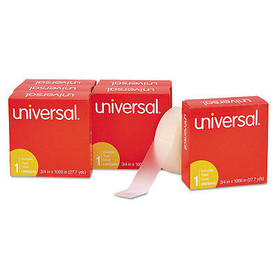 """Universal Invisible Tape 3/4"""" x 1000"""" 1"""" Core Clear 6/Pack 83410"""