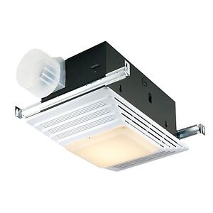 Broan Heater Bath Fan Light Combination Bathroom Ceiling Ventilation Exhaust