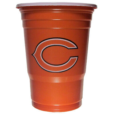 Chicago Bears 18 count 18 oz Disposable Plastic Cups NFL Licensed