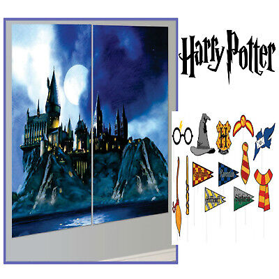 Harry Potter Scene Setter + 13 Photo Props Birthday Party Decoration - Photo Supplies