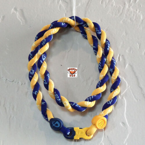 Phiten Tornado Necklace Custom: Gold with New Navy