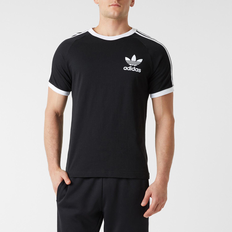 ADIDAS ORIGINALS Solid, Printed Men's Round Neck White T Shirt