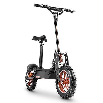 E-scooter tout terrain trottinette électrique 32km/h selle batterie longue durée