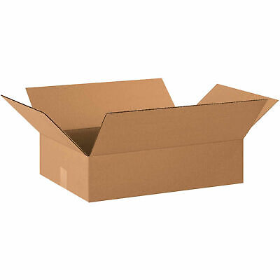 20 X 14 X 4 Flat Cardboard Corrugated Boxes 65 Lbs Capacity Ect-32 Lot Of