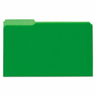Universal Recycled Interior File Folders 13 Cut Top Tab Legal Green 100box