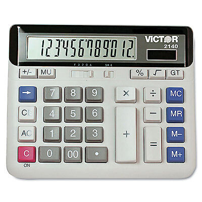 Victor 2140 Desktop Business Calculator 12 Digit Lcd