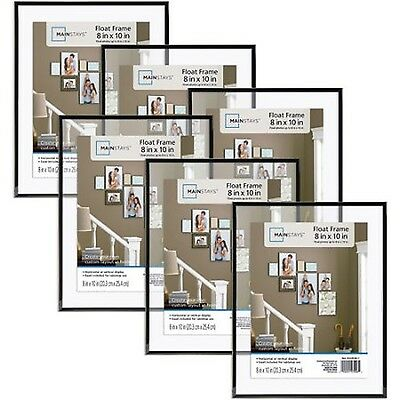 Mainstays 8x10 Float Picture Frame Set of 6 (NEW - FREE SHIPPING)