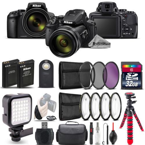 Nikon COOLPIX P900 Digital Camera 83x + LED + 7PC Filter +