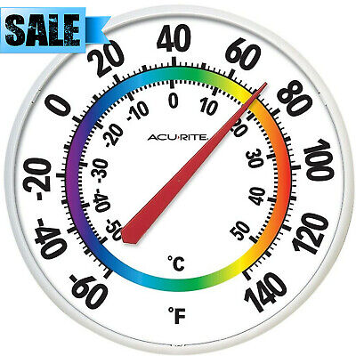 ACURITE INDOOR OUTDOOR ANALOG THERMOMETER EASY READ LARGE TEMPERATURE GAUGE WALL