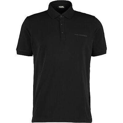 KARL LAGERFELD Designer Men's  Black Logo Polo Shirt Size: S, M,L, rrp: £76