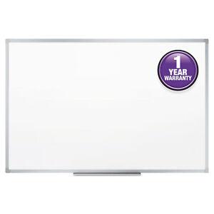 Mead Dry-Erase Board, Melamine Surface, 48 x 36, Silver Aluminum - MEA85357