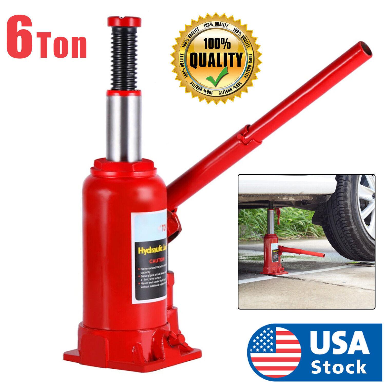 6 Ton Hydraulic Bottle Jack Car Repair tools Manual Lift truck Car Jack USA Automotive Tools & Supplies