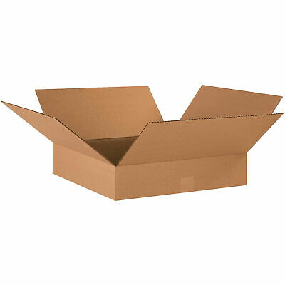 17 X 17 X 4 Flat Cardboard Corrugated Boxes 65 Lbs Capacity Ect-32 Lot Of