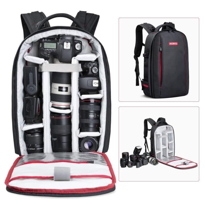 Beschoi DSLR SLR Camera Backpack Bag Case Waterproof for Canon Large Capacity