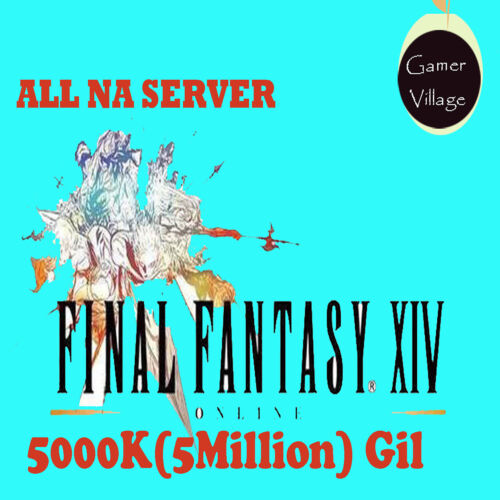FFXIV GIL 5000K/5 MILLION ALL NA Server Cheap Buy FF14 FINAL FANTASY XIV GILS