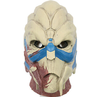 Mass Effect Garrus Vakarian Mask Latex Head Cosplay Halloween Prop XCOSER  - People Halloween Masks