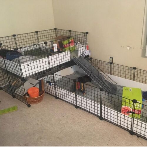 12 Panels Pet Playpen Small Animals Dog Big Rabbit Guinea Pig Yard Fence Cage