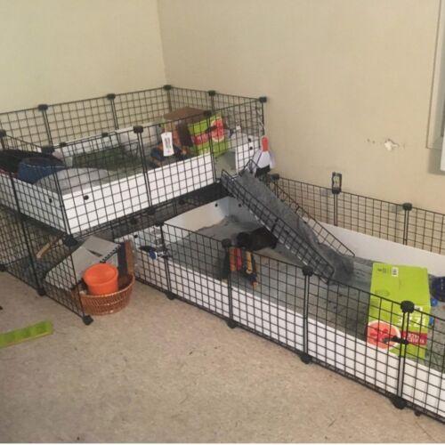 12 Panels Pet Playpen Small Animals Dog Big Rabbit Guinea Pig Yard Cage Fence