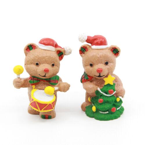 CHRISTMAS TEDDY BEARS PVC Figures - Vintage 1984 Applause / Schleich