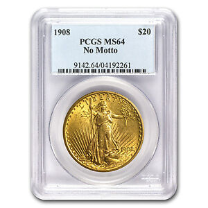 $20 Saint-Gaudens Gold Double Eagle Coin - Random Year - MS-64 PCGS - SKU #7224
