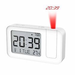 MoKo Projection Alarm Clock Smart Alarm Clock w/ Time Projection,Snooze,Calendar