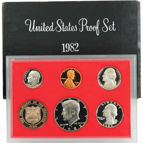 1982-S Proof Set United States US Mint Original Government Packaging Box