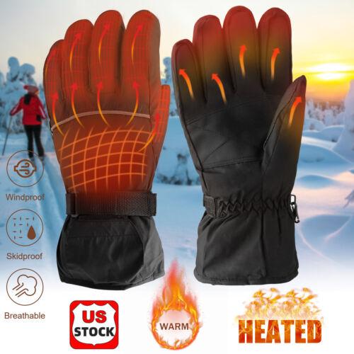 Motorcycle Electric Heated Gloves Ski Cycling Winter Warm Waterproof Windproof