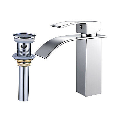 Bathroom Faucet Vessel Sink Vanity Mixer Tap Chrome With Drain Single Hole
