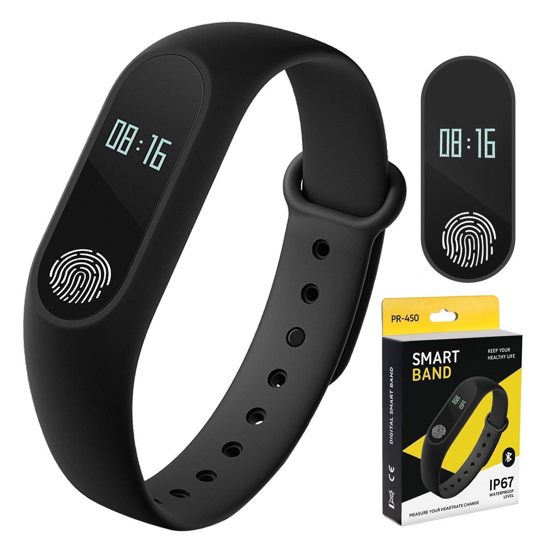 Touch Smartband Activiteit Fitness Tracker Bluetooth Stappenteller Bloeddruk