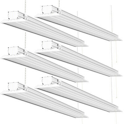 Sunco 6 Pack Flat Led Utility Shop Light 40w 300w 5000k Daylight 4500 Lm