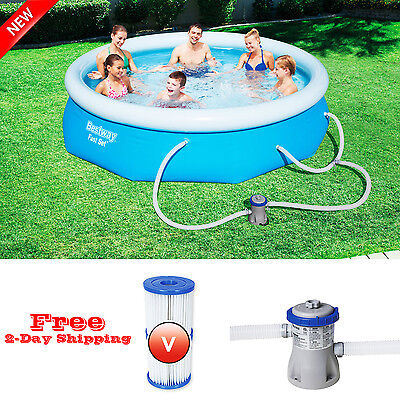 "Cheap and Quality 10' x 30"" Above Ground Swimming Pool Set w/ Filter Pump NEW"