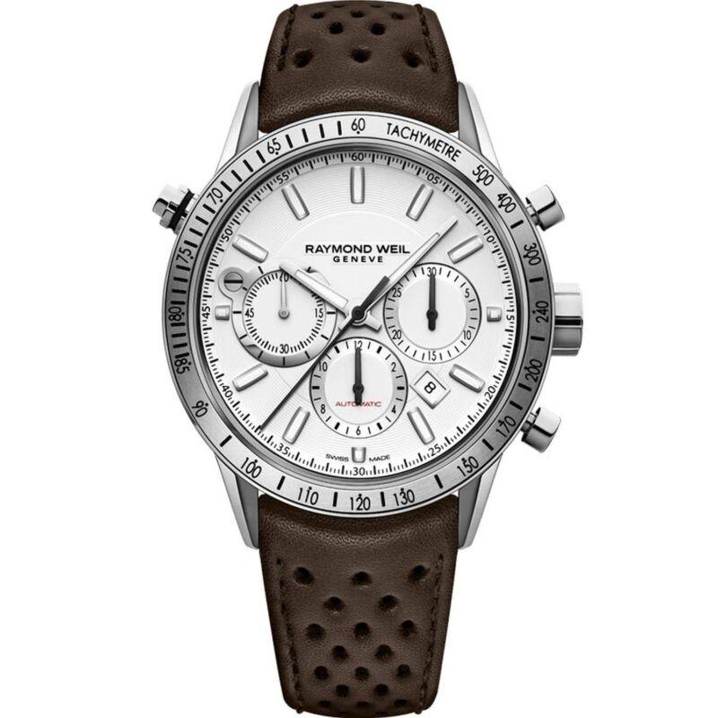 Raymond Weil 7740-STC-30001 Men Freelancer White Automatic Watch
